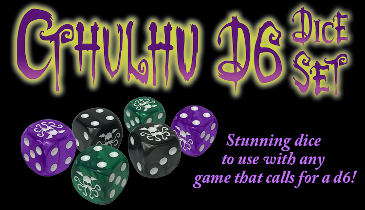 Banner link to Cthulhu D6 Dice Set